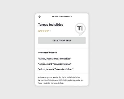 Tareas Invisibles, skill para Amazon Alexa